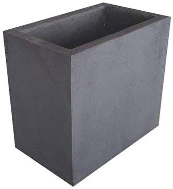 betonnen bloembak antraciet 50x80x75cm. Black Bedroom Furniture Sets. Home Design Ideas