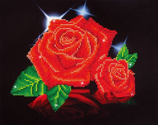 Bolcom Diamond Dotz Painting Red Rose Sparkle 355x279 Cm
