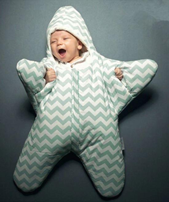 Babyslaapzak Zeester - Lichtgroen - Katoen