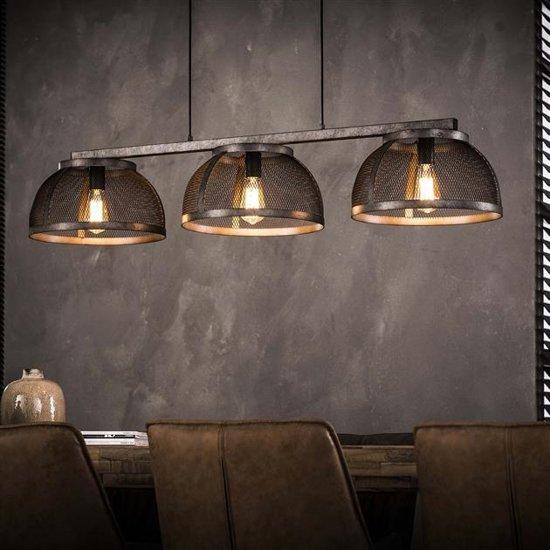 Industriële hanglamp Maddox 3-lichts oud zilver