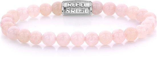 Rebel&Rose armband - Pink Rose - 6mm