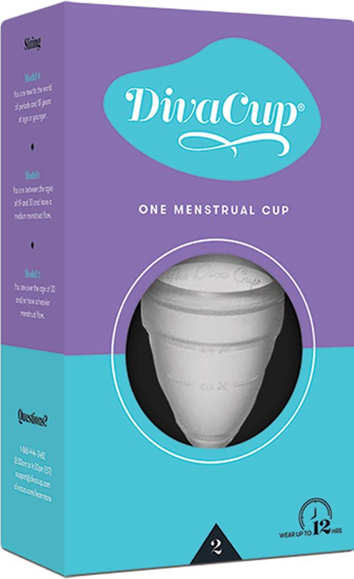 DivaCup Herbruikbare Menstruatiecup Type 2 - Large