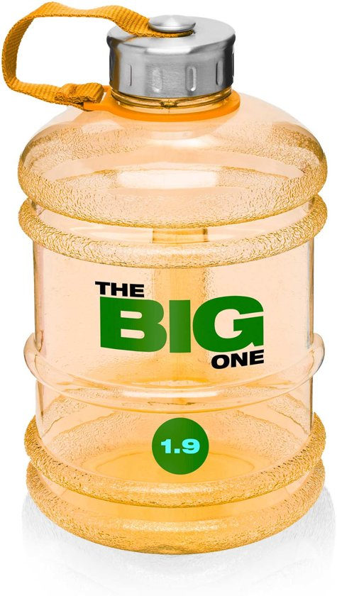 #DoYourFitness - Sportdrankfles - »TheBigOne« - waterfles / watercan van tritan materiaal - 1,9 Liter - oranje