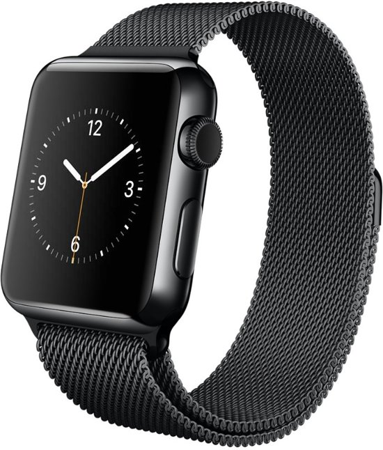 Milanees Bandje met Magneetsluiting voor Apple Watch - Zwart - 42mm