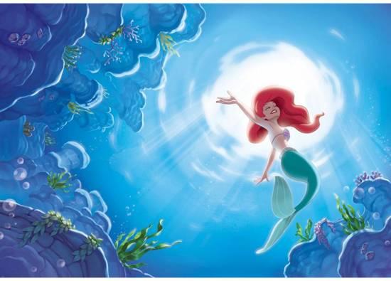 Disney Princess Ariël - Fotobehang - 4 delig - 368 x 254 cm - Blauw