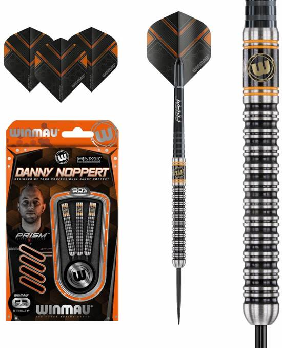 Winmau Danny Noppert Onyx Black 90% 25 gram Dartpijlen