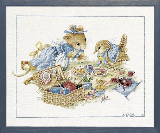 borduurpakket 33843 marjolein bastin, vera de muis, picknick