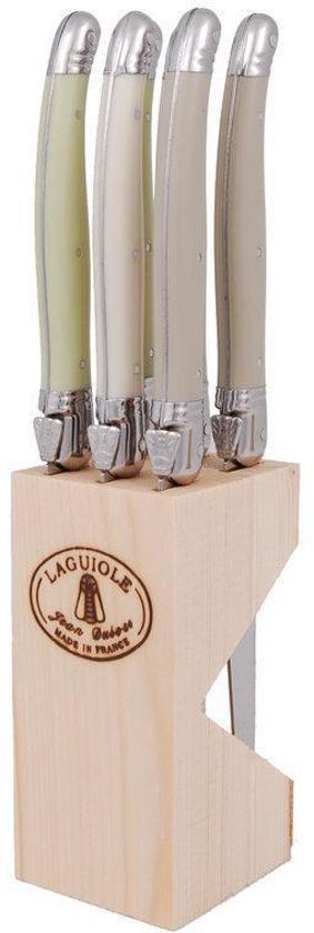 Laguiole Spring Mix Steakmessen - 6 stuks - Incl. messenblok
