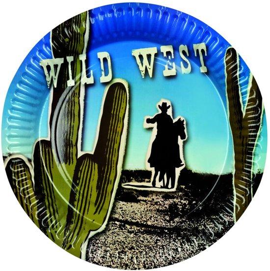 Set 6 Bordjes Wild West (23 cm)