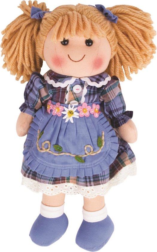 BIGJIGS stoffen pop Katie popje stof- 34 cm