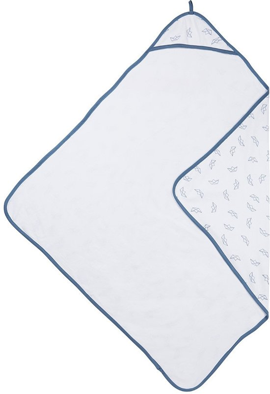 11aee41567d Meyco badcape - Boat jeans/wit - 90 x 90 cm
