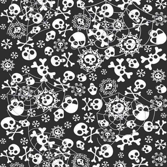 Halloween Tafelkleed horror zwart met wit