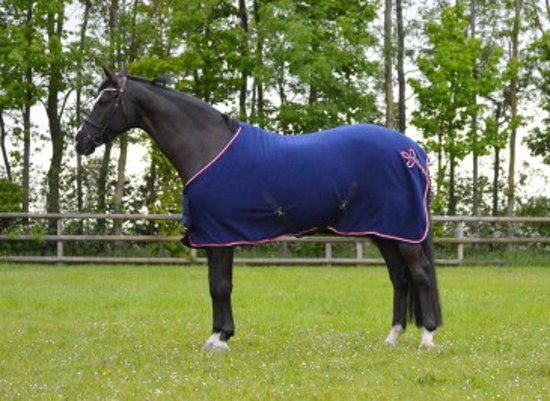 QHP Deken fleece Holland - Navy - 185