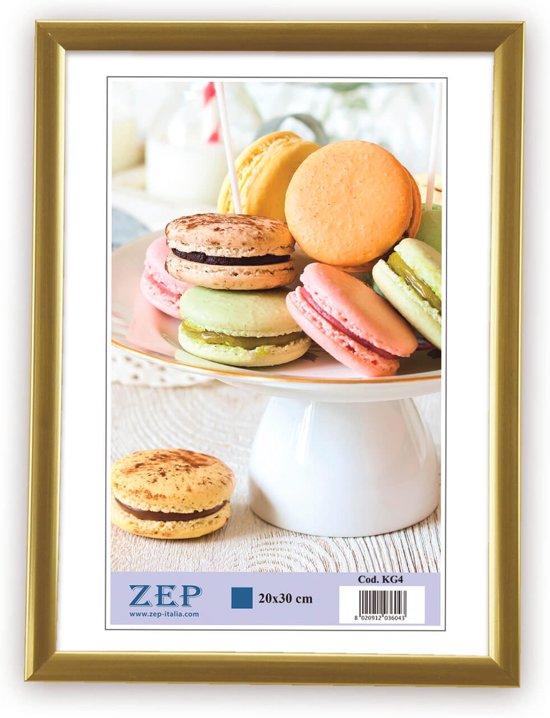 ZEP -  Kunststof Fotolijst Basic Frame Gold voor foto formaat 20x30 - KG4