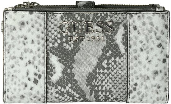 Guess Holly SLG Double Zip Organizer Portemonnee Python