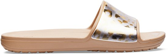 e2db93b8c5c234 Crocs Sloane Graphic Metallic Slide Slippers - Maat 39 40 - Vrouwen - goud