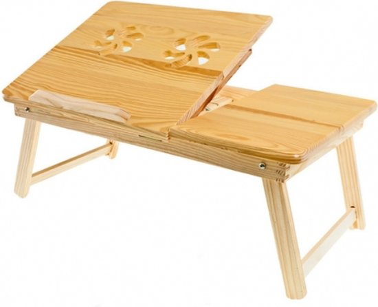 Super bol.com   Laptoptafel verstelbaar - hout - op schoot - 50x30cm DZ-77