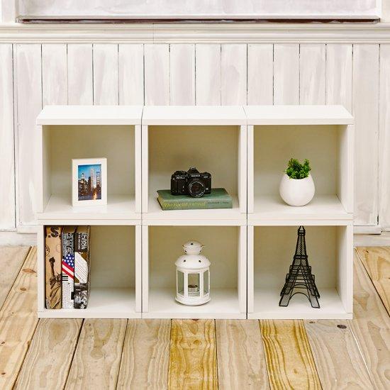 way basics kubussen boekenkast wit zboard set van 6