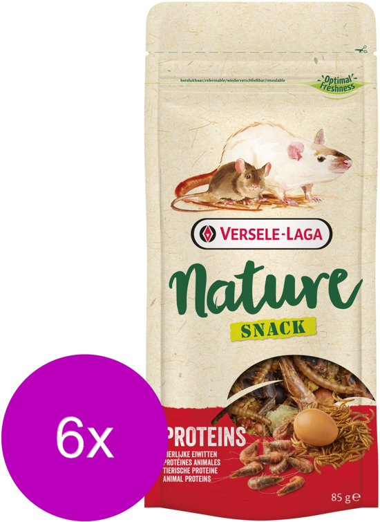 Versele-Laga Nature Snack Proteins - Knaagdiersnack - 6 x Protein 85 g
