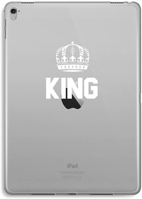 iPad Pro 9,7 inch Transparant Hoesje (Soft) - King zwart
