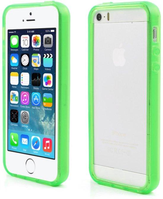 Iphone 5c groen grijs hoesje