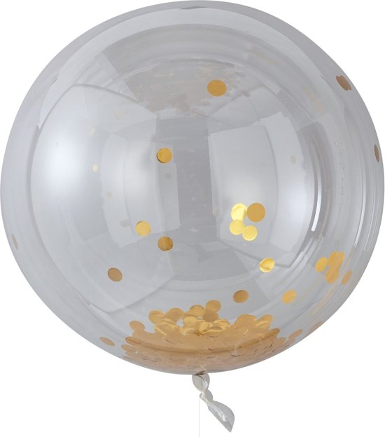 Ginger Ray Pick & Mix - XL ballon gevuld met gouden confetti Ø 90 cm - Set-3 Valentinaa