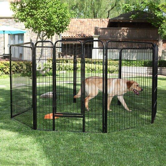 Hondenren 8 Kennelpanelen - Puppy Ren Puppykennel Groot Kennel Hond Kat Buitenren Hondenkennel - Hoog Model