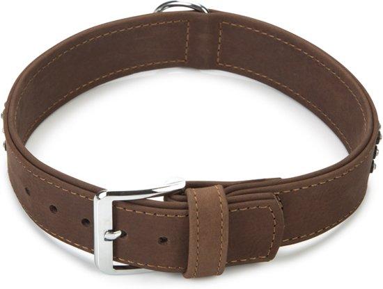 Beeztees Buffalo Strass - Hondenhalsband - Bruin - 51-59 cm x 40 mm