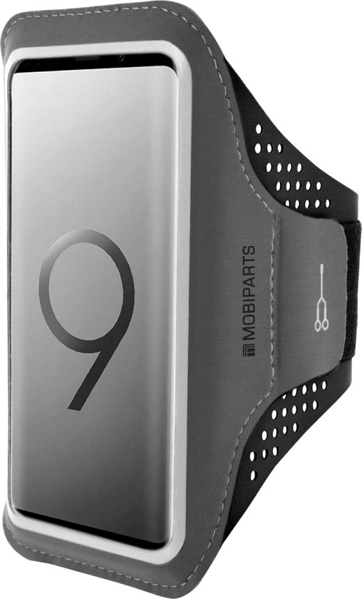 Mobiparts Comfort Fit Sport Armband Samsung Galaxy S9 Plus Black