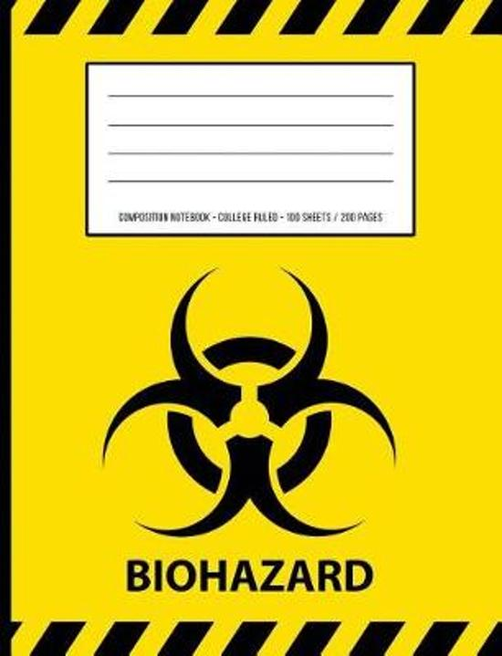 Biohazard Warning Periodic Table Chemistry Composition Notebook