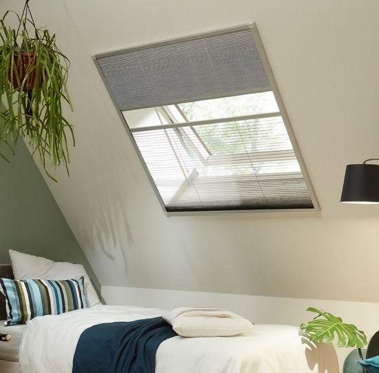 Top bol.com | Bruynzeel S700 Duo-plissé dakraam 113x180 cm aluminium XL17