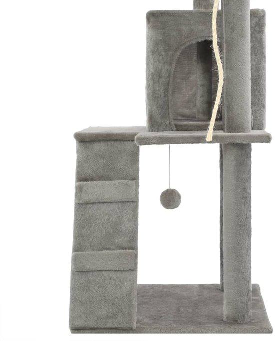 vidaXL Kattenkrabpaal met sisal krabpalen 120 cm grijs