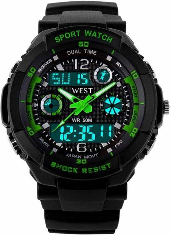 West Watch – multifunctioneel kinder sport horloge - model Storm – groen