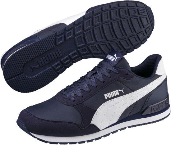 V2 White Unisex Maat Nl 44 Puma Runner St Peacoat Sneakers qE4xC0UOnw