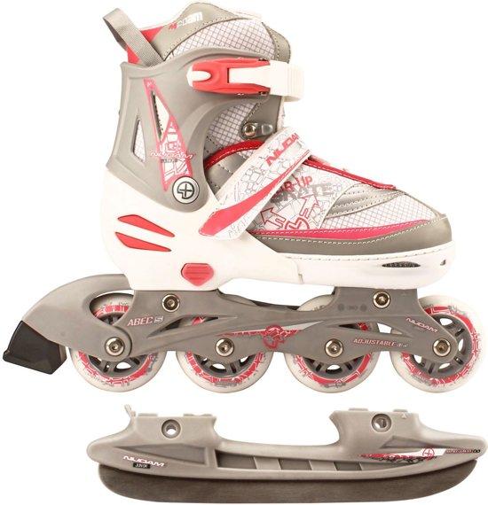 170c8c51d3a bol.com | Nijdam Junior Skate/Schaats Combo - Semi-Softboot - Wit ...