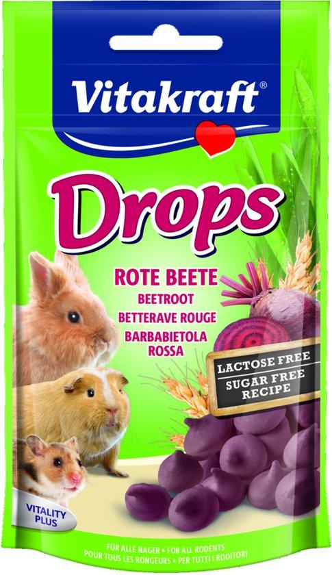 Vitakraft Drops - Rode Biet -  Knaagdierensnack - 75 g