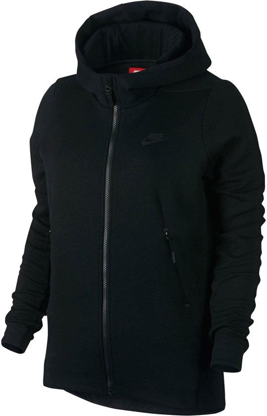 Nike Sportswear Tech Fleece Sporttrui - Maat M  - Dames - zwart