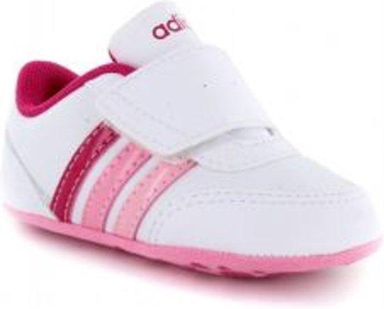 7a664413624 bol.com | adidas V Jog Crib - Sneaker - Kinderen - Wit - maat 19