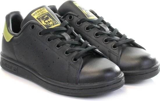 51645dea495 bol.com | Adidas Stan Smith J Core Black / Gold Metallic - Maat 35.5