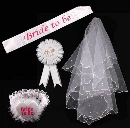 Bride To Be Versiering Decoratie Set Sjerpsluiertiara Vrijgezellenfeest Team Accessoires