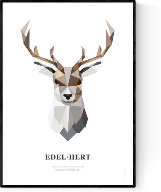Tinkle&Cherry - Poster - Geometrisch - Hert - 50x70cm