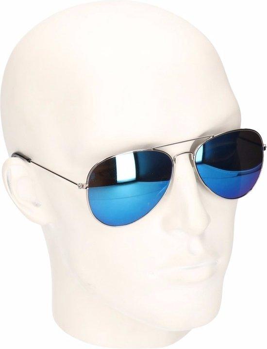 a030709fab1240 Pilotenbril met blauwe spiegel glazen model 5729