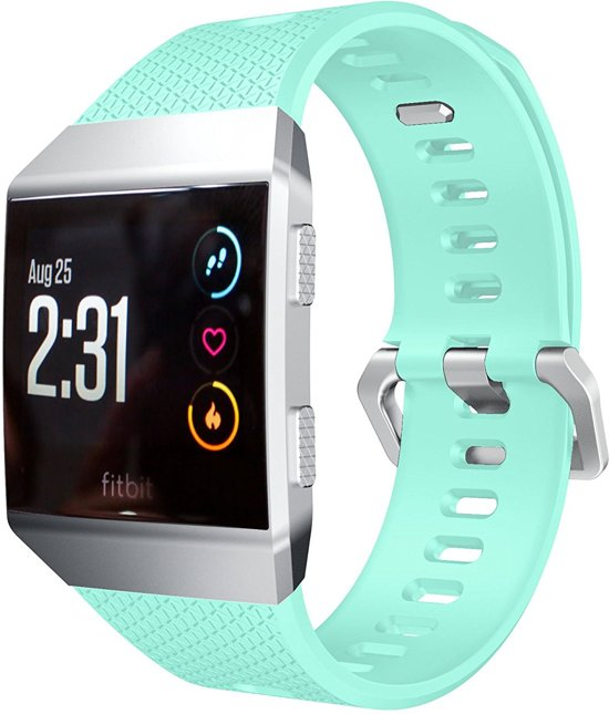 Siliconen Horloge Band Voor Fitbit Ionic - Armband / Polsband / Sport Strap Bandje / Sportband - Mint Groen Large