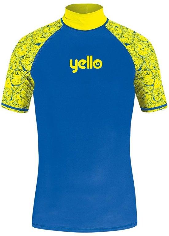 Yello Uv-werend Shirt Blowfish Jongens Blauw/geel Maat Xs