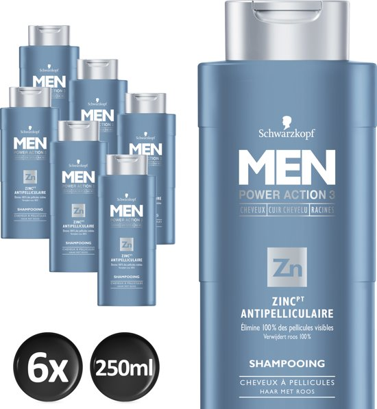 Bolcom Schwarzkopf Men Shampoo Anti Roos 250 Ml 6 Stuks