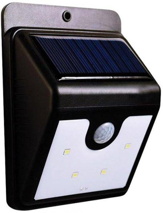 Bellson Solar LED Buitenlampje met sensor/bewegingsmelder - Zwart