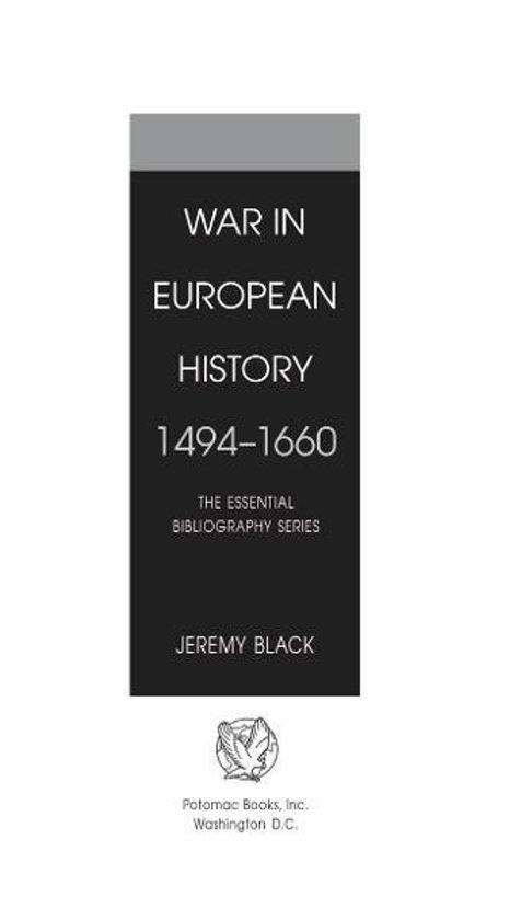 War in European History, 14941660
