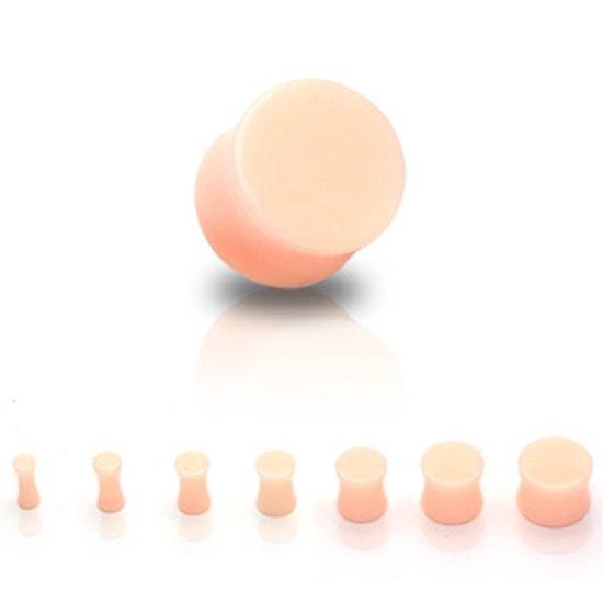 4 mm Double-flared plug huidskleur retainer ©LMPiercings