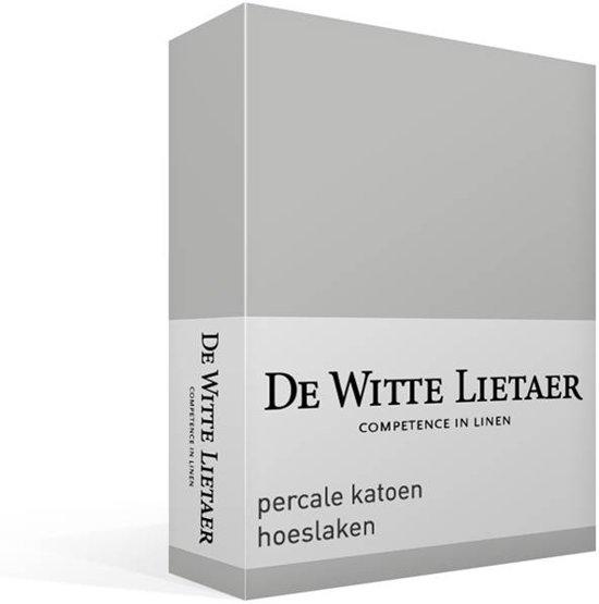De Witte Lietaer - Jersey Elastan - Hoeslaken - Eenpersoons - 90x200 cm - Silver