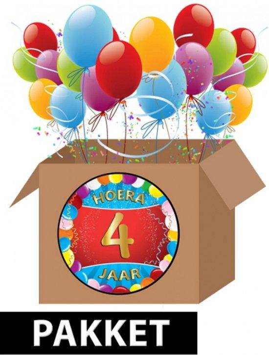 4 jaar verjaardag bol.| 4 jaar versiering voordeel pakket, Fun & Feest Party  4 jaar verjaardag